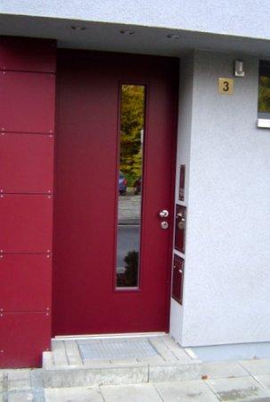 Holz Haustür In Gütersloh Rot Haustüren Galerie