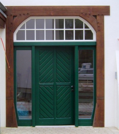 Haustür holz grün  Holz-Haustür Parkstrasse in Gütersloh | Haustüren | Galerie