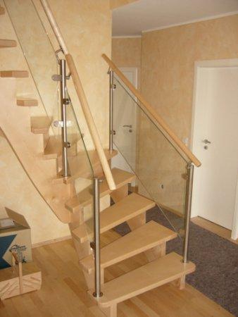 Treppen Mit Glasgeländer ahorn treppe mit glas geländer treppen galerie